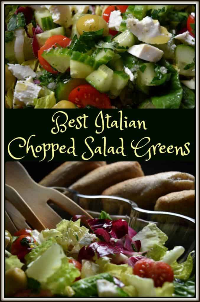 Best Italian Chopped Salad Greens Recipe She Loves Biscotti