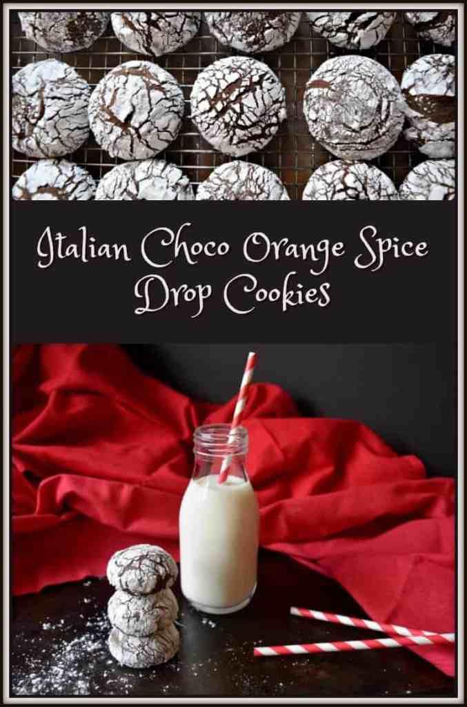 Italian Choco Orange Spice Drop Cookies