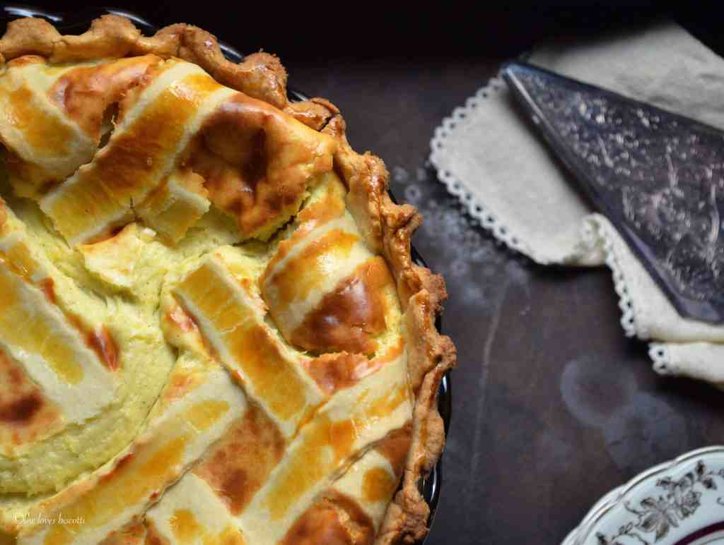 Lattice Topped Ricotta Easter Pie