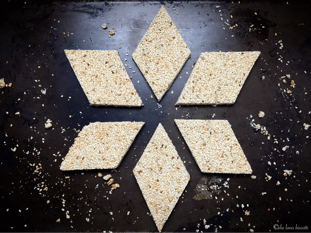 A star shape is formed with Sesame Seed Nougat.