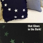 Easy No Sew Big Dipper Pillow – That GLOWS in the dark!