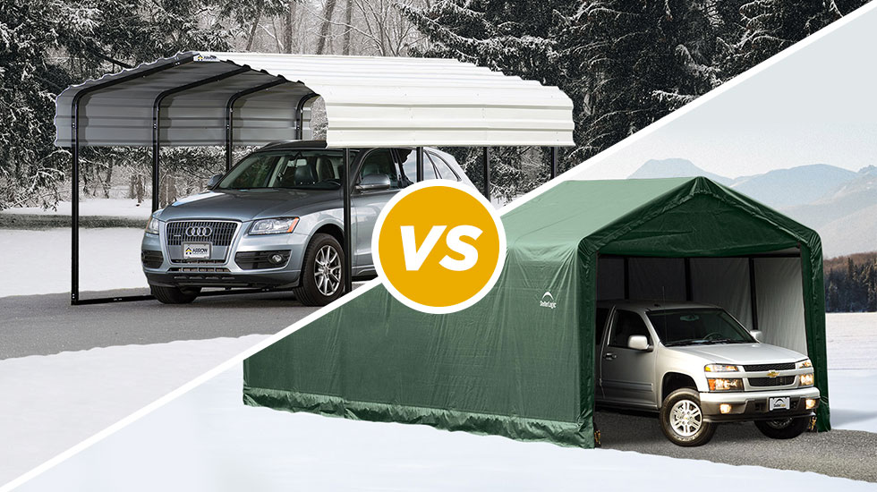 Carport Vs Garage What Should You Choose Shelterlogic Corp