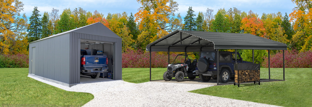 Carport Vs Garage What Should You Choose Shelterlogic Corp
