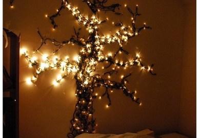Bedroom Hanging Christmas Lights