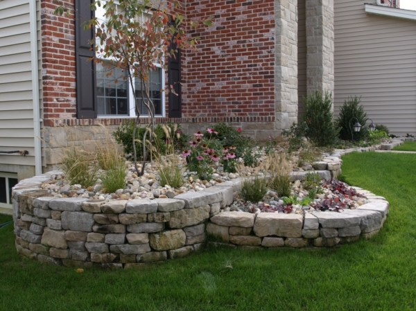 block retaining walls - landscaping