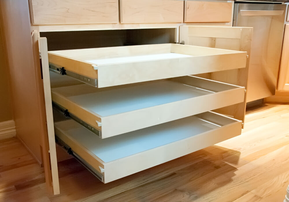 kitchen shelves ideas frigidaire package custom roll out for cabinets, pantries ...