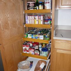 Kitchen With Pantry Cabinet Updates Pull Out Shelf Storage Sliding Shelves