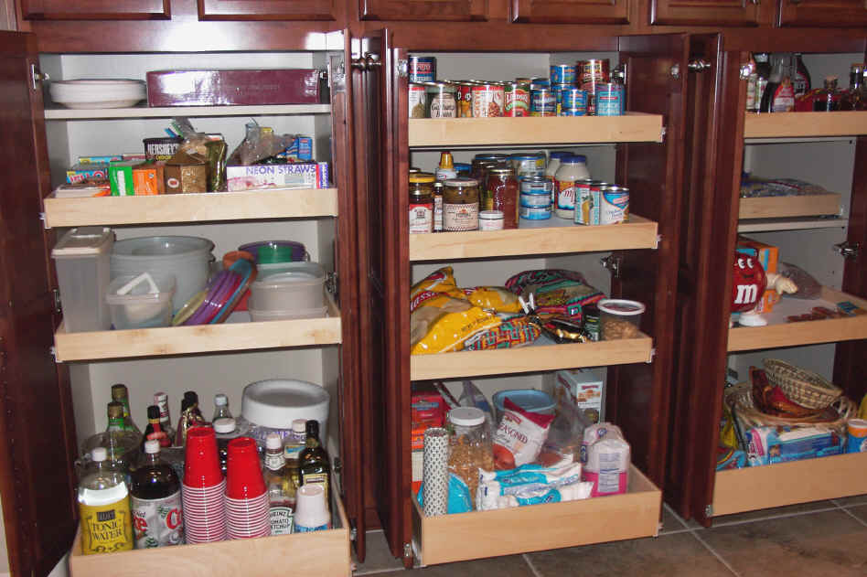 kitchen pantry storage aid service cabinet pull out shelf sliding shelves click to enlarge pullouts