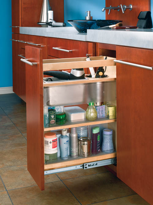 Cabinet Pullout Grooming Organizer For Bathroom Vanity Shelves That Slide