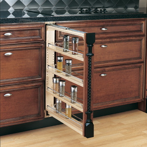 narrow kitchen base cabinet trashcans 3 inch filler: shelves that slide