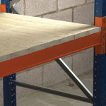 Timber decking for pallet racking- close boardeds