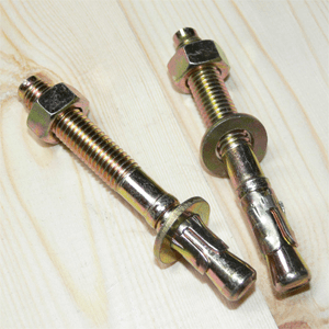 100 Fixing bolts for Pallet Racking, fixing bolt