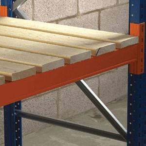 Timber decking for pallet racking