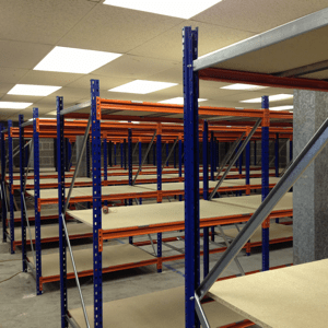 New heavy duty warehouse shelving