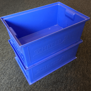 100 Used Schaefer plastic storage boxes
