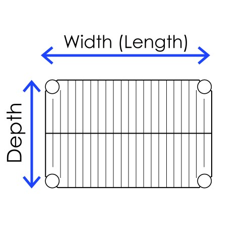 small resolution of wire shelving technical specifications