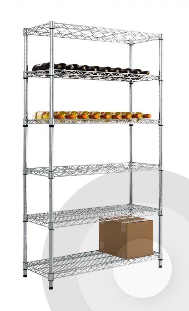 Chrome Wine Rack With Under Storage