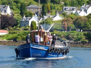 ring net fishingboat filming for grand tours BBC