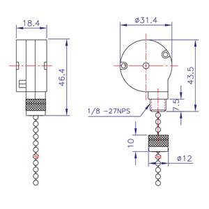 Zing Ear Pull Chain Switch ZE228S   Shemoi Ent