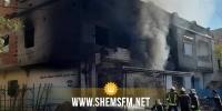 القيروان: حريق هائل في محل للبنزين المُهرب (صور)