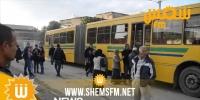 توقف فجئي لعملة الحافلات وخطوط المترو في تونس العاصمة