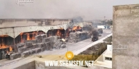 حريق مصنع المناديل الورقية بالنفيضة: فتح محضر من أجل إضرام النار عمدا