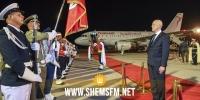 رئيس الجمهورية يصل لمطار تونس قرطاج إثر زيارته لفرنسا