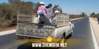القصرين: انقلاب شاحنة على متنها 11 عاملا بالقطاع الفلاحي