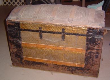 Antique trunk restoration and refinishing by Shenandoah