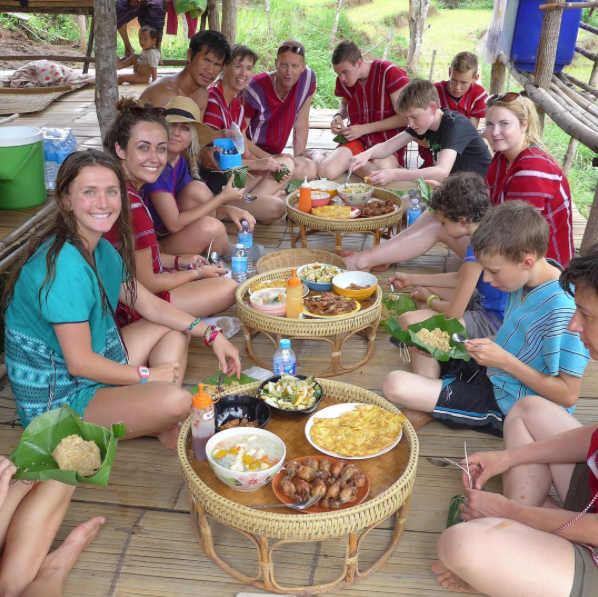 Lunch at Elephant Caretaker Village, Chiang Mai, Thailand