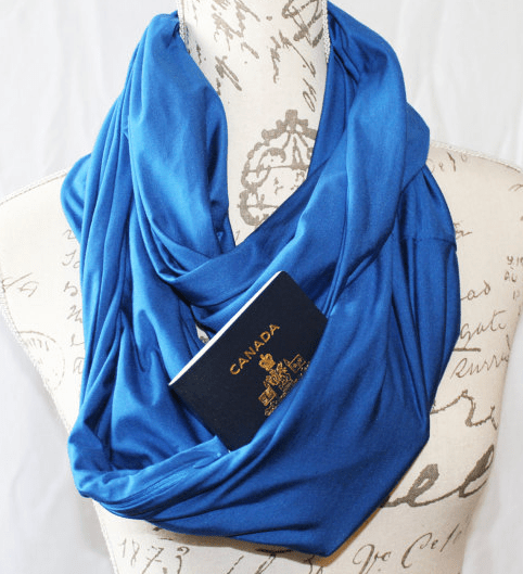 secret pocket infinity scarf travel packing