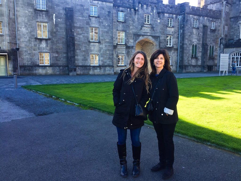 ireland-road-trip-two-women-standing-at-kilkenny-castle