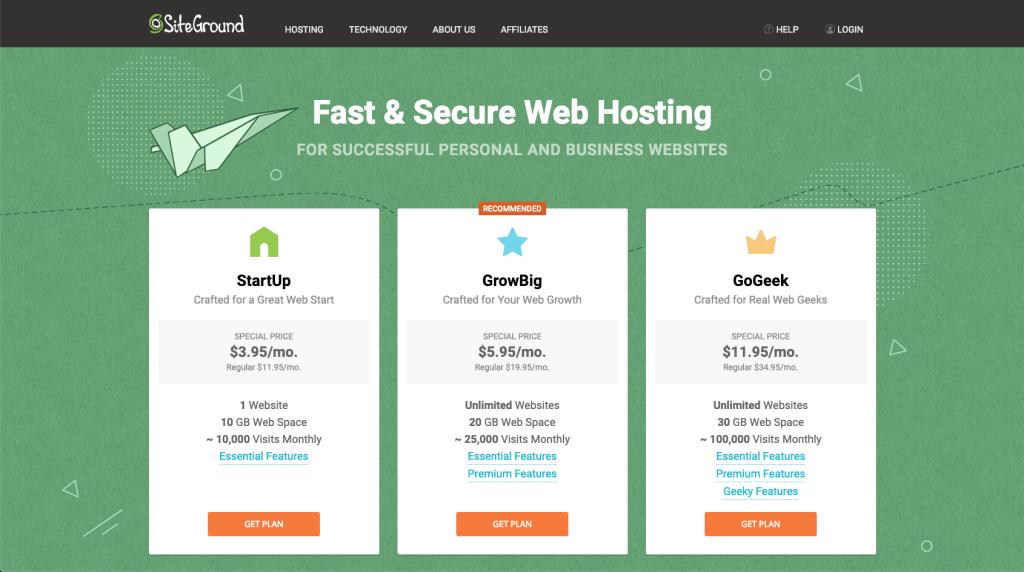 site-ground-hosting-setup-plans