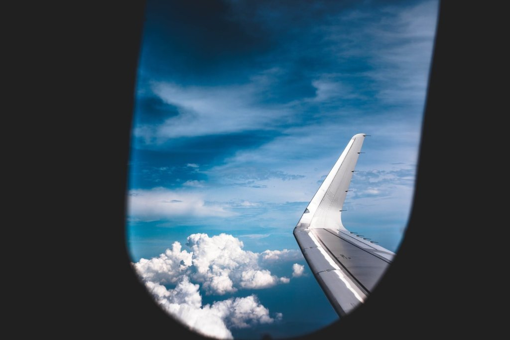 view outside plane window