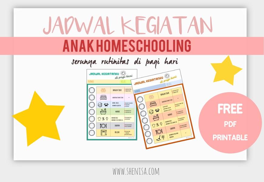 Contoh Jadwal Harian Anak Homeschooling (Rutinitas Pagi Hari) untuk Prasekolah hingga SD