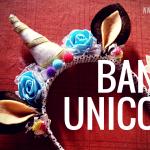 diy membuat bando unicorn