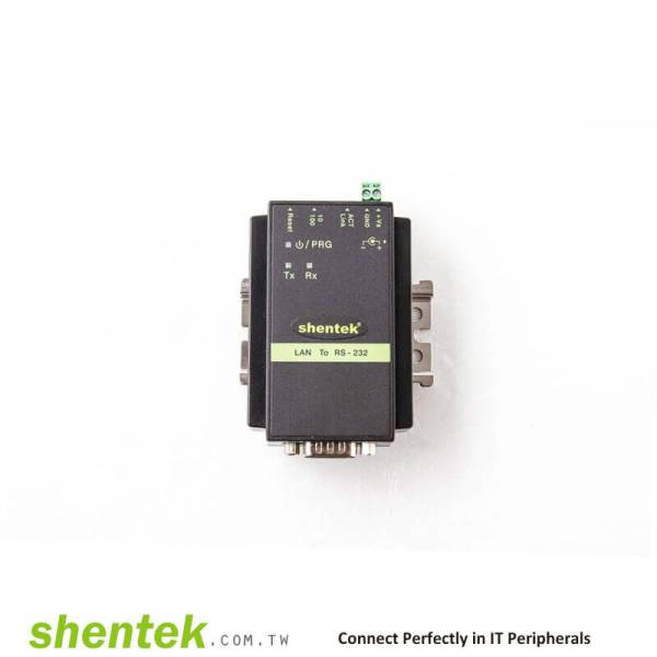 1 port Serial RS-232 Device Server Over IP Ethernet with Din Rail Wall Mount Kit