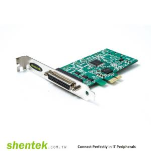 Parallel 1 port PCIe Card supports Standard and Low Profile Bracket