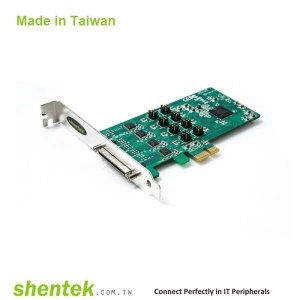 8 port High Speed Serial RS-RS232/422/485 PCI Express(PCIe) Card supports Standard and Low Profile Bracket, with 600W Surge Protection
