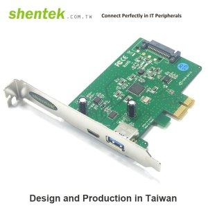 1 port USB-C + 1 port USB-A type SuperSpeed+ USB 3.1 Gen2 10G PCI Express Card supports Standard and Low Profile Bracket