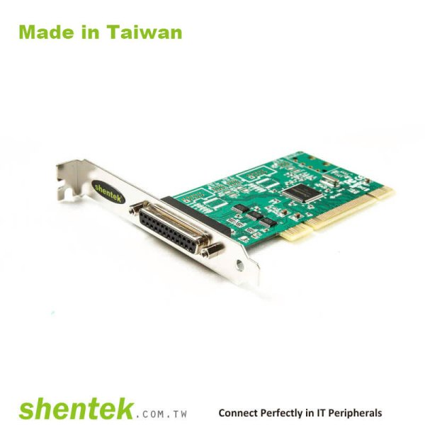 1 port Parallel Universal PCI card I/O Address for 378 and 278, Standard and Low Profile Bracket