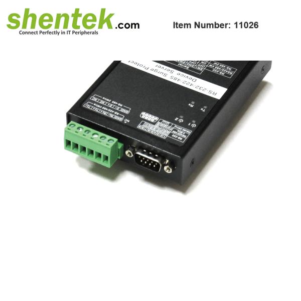shentek-11026-RS232-RS422-RS485-device-server-Din-Rail-Wall-Mount