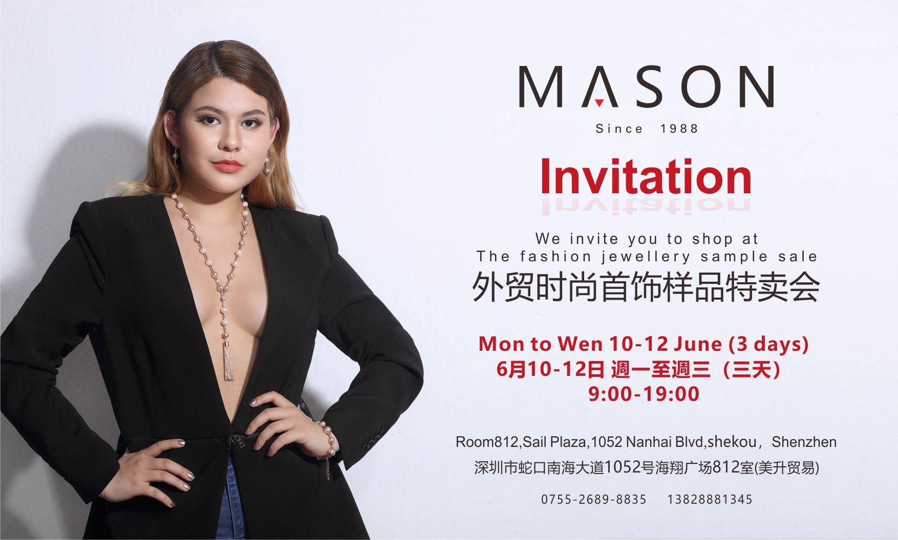 """MASON""(美升贸易) Jewelry Sample Sale! (June 10th - 12th)"