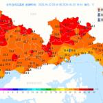 深センの5月GW最高気温ー各所で36度超え!
