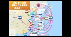 (10/2 更新)【2020年10月版】中国発着 国際便運航スケジュール・発着ルート