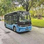 レベル4自動運転バスが蓮花山公園に登場