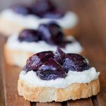 Roasted grapes and Hatch Chiles appetizer