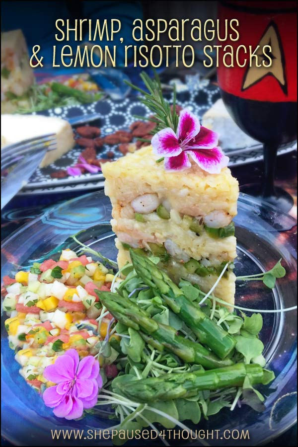 Shrimp Lemon Risotto Stack | She Paused 4 Thought