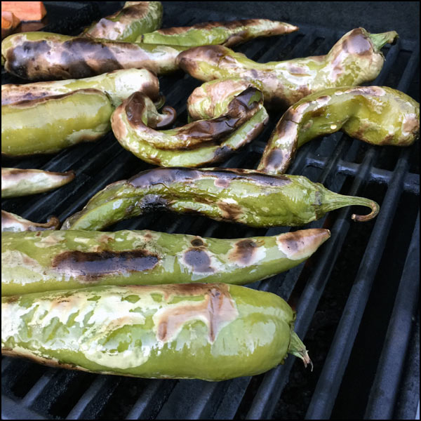 hatch chiles on grill | She Paused 4 Thought