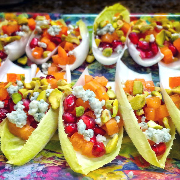Persimmons & Pomegranate Endive Cups   She Paused 4 Thought